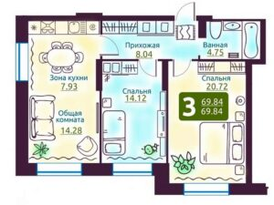 Планировки квартир в ЖК Дом на Дачной в Новосибирске