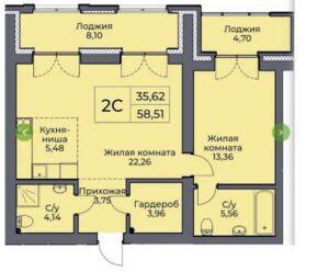 Планировки квартир в ЖК Булгаков в Новосибирске